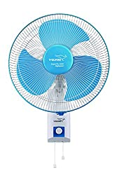 V Guard Wall Fan Superflo High Speed- White Blue Sweep Size 300mm