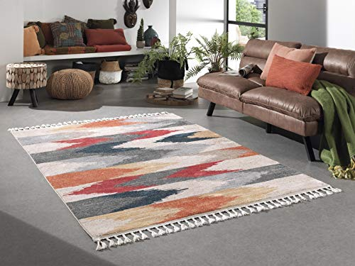 Kilim Tapis de Salon Ethnique - Multicolore (Multicolore 139, 120 x 170 cm)