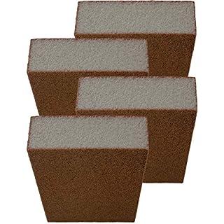 HOMETOOLS.EU - 4x Kamin-Scheiben Reiniger Schwamm | für verrußte Ofen-Scheiben, Chemie-Frei | 4er Pack
