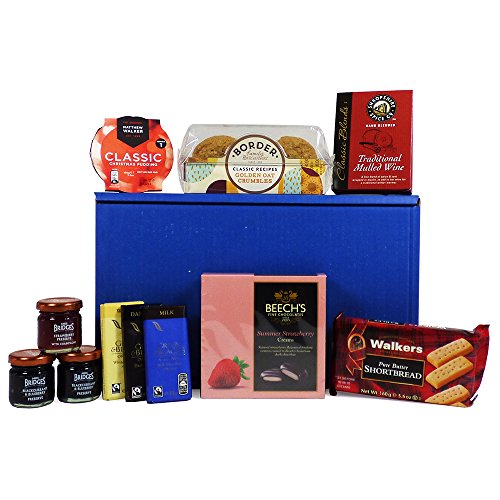 Sweet Treats Red Box Gift Hamper with 11 Items from Fine Food Store Gift ideas for � Christmas,Fathers Day,Mothers Day,Valentines,Presents,Birthday,Men,Him,Dad,Her,Mum,Thank you,Wedding Anniversary,Engagement,18th,21st,30th,40th,50th,60th,70th,80th,90th