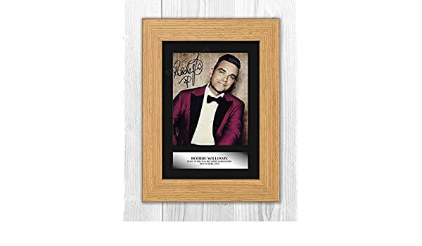 Robbie Williams Signed Autograph Reproduction Mounted Photo A4 Print ...