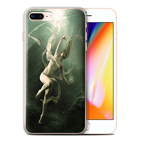 Offiziell Elena Dudina Hülle / Gel TPU Case für Apple iPhone 8 Plus / Sonrisas/Delphin Muster / Agua de Vida Kollektion Unterwasser