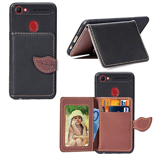 Oppo F7 Holster Case Flip, Meroollc Cover Suit Premium Vertical Leather Pouch Sleeve Carrying Case Stand with Card Slot Holster for Oppo F7 (Black)