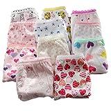 adiasen Little Mädchen niedlichen 6Baumwolle Unterwäsche Slip Hipster Miederteil Farbe zufällige, Mehrfarbig, 4-5 Jahre