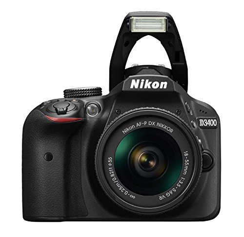 Nikon D3400 24.2MP Digital SLR (Black) + AF-P DX NIKKOR 18-55mm f/3.5-5.6G VR Lens + AF-P DX NIKKOR 70-300mm f/4.5-6.3G ED VR Lens + 8GB Memory Card + Camera Bag