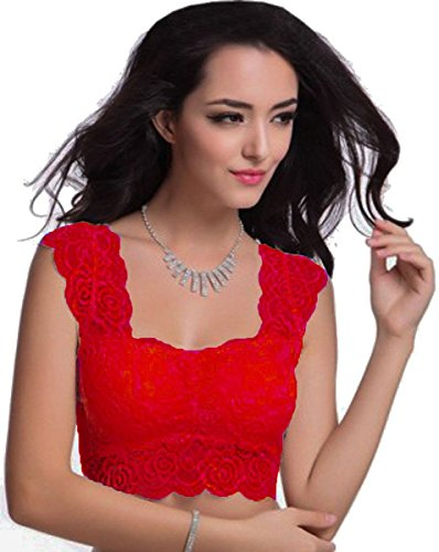 BARE-THREADS-Floral-Lace-Blouse-cum-Crop-Top-Padded-with-soft-cups-FREE-SIZE