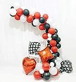 CASINO NIGHT 80pc Party Balloon Dekorationen, Casino Las Vegas Party Balloons Spielen Hängende Dekorationen Kulisse Rot Schwarz und Weiß Latex Party Dekorationen für Abschluss Geburtstag Hochzeit