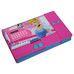 8teen World Jumbo Pencil Box Pencil Box in Princess, Cinderella, Spider Man & Avengers Characters with Calculator (Barbie/Frozen)