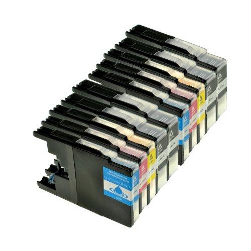 Preisvergleich Produktbild 10er Set Tintenpatronen für Brother LC1240 LC1280 XL , 4x BK 30ml,2x je farbe 23ml, kompatibel zu LC-1280XL. Geeignet für MFC-5910 MFC-J6510, MFC-J6710, MFC-J6910,DCP 525 725 925 DCP-J525W DCP-J725DW DCP-J925DW
