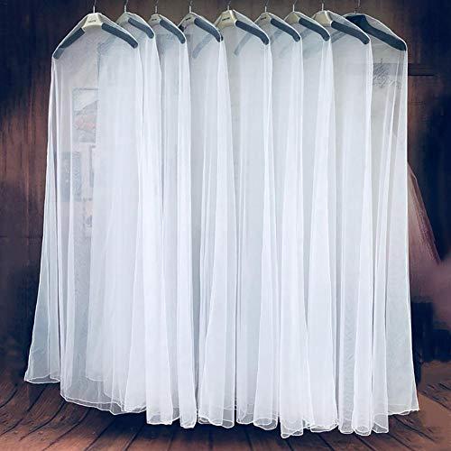 Seasaleshop Einzelne weiße Brautkleid Kleid Kleidungsstück Abdeckung Tasche, weiche Tüll Staubschutz für Heimtextilien Hochzeit Kleid Kleidungsstück Brautkleid Protector Mesh Garn, 160cm 180cm 200cm.