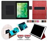 reboon Hülle für Blaupunkt Endeavour 1000 QC Tasche Cover Case Bumper | in Rot Leder | Testsieger