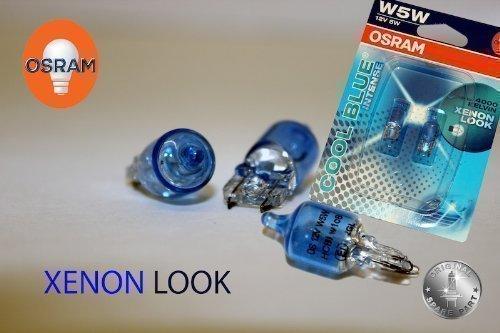 Original OSRAM 1 - Set T10 W5W 12V 5W COOL BLUE INTENSE XENON LOOK 4000 KELVIN Soffitte Standlicht Parklicht Scheinwerfer - NEU - OHNE FEHLERMELDUNG - StVO Zugelassen -