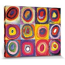 Vassili Kandinsky - Estudio Del Color, Cuadrados Con Círculos Concentrados, 1913 Cuadro, Lienzo Montado Sobre Bastidor (50 x 40cm)