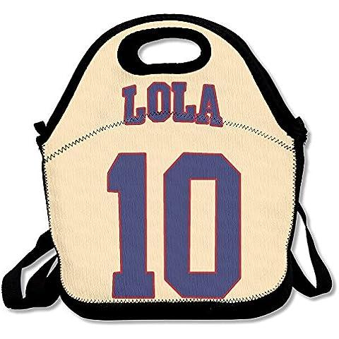 annda Lola Bunny # 10Logo in neoprene Borsa per il pranzo con tracolla