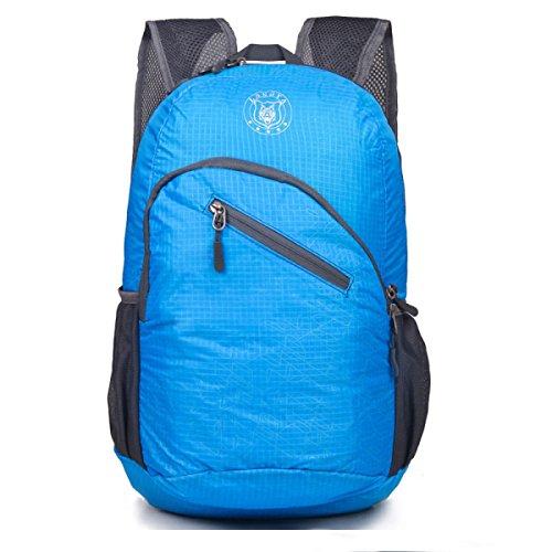 Ultra-light Bergsteigen Tasche Schulter Im Freien Reise Tasche Faltbar Blue