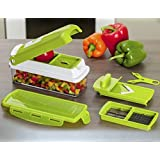 KeeweTech TM ABS Quality 10 pcs Set Best Mandoline Kitchen Genius Slicer Dicer Cuts Vegetables & Fruits with manual CD