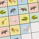 creatisto Fliesen Mosaik Klebefliesen Fliesensticker | Klebefolie Fliesen Sticker Aufkleber Badfliesen Küchen-Fliesen Wand Deko Kinder | 10x10 cm - Motiv Origami Tiere - 36 Stück