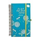 agenda scolaire 2017 2018 agenda de poche compact pocket life book agenda au design noble et raffin? organiseur ? affichage hebdomadaire du 17 ao?t au 18 d?cembre