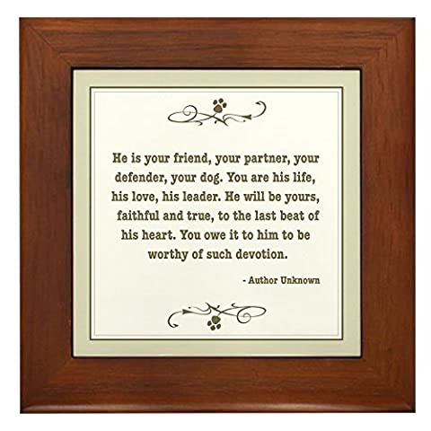 CafePress - Your Friend - Framed Tile, Decorative Tile Wall Hanging