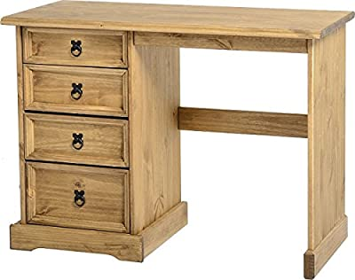 Corona Dressing Table 4 Drawer, Solid Pine Wood produced by SECONIQUE - quick delivery from UK.