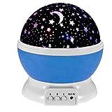 Esonstyle® New Generation 360 Grad Romantische Stimmung Stern-Nachtlicht -Lampen-Raum Rotierende