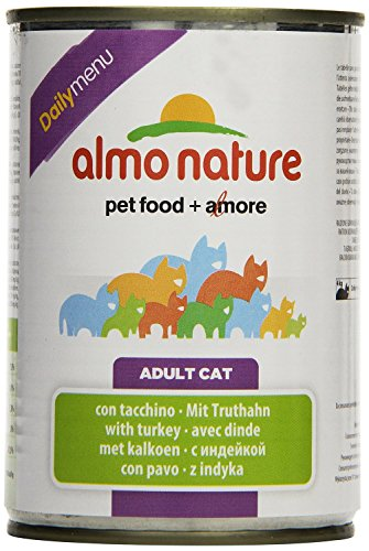 Almo Nature Dailymenu con Tacchino Umido Gatto Premium - Grain Free - 24x400 g