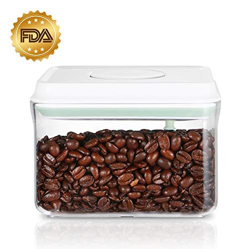 SKY LIGHT Vorratsdose Behälter Kaffeedose mit Deckel POP 1000ml Vakuum Stapelbar Frischhaltedosen Aufbewahrungsdose Luftdicht aus Lebensmittelqualität Polyäthylen Müslidosen BPA frei