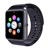 TOP-MAX Smartwatch GT08 Bluetooth Smart Watch Schwarz mit Kamera sim-Karte Slot für Android iOS iPhone 7 7plus 8 8PLUS X(APP nicht kompatibel mit IOS-System)