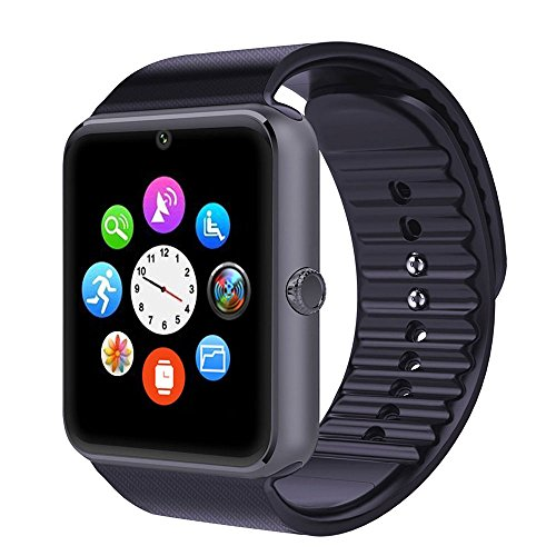 TOP-MAX Smartwatch Black, GT08 Bluetooth Smart Watch with Camera and SIM Card...