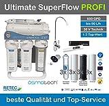 RDL Osmotech Ultimate PLUS SuperFlow 600 GPD direct flow RETEC PROFI-EDITION