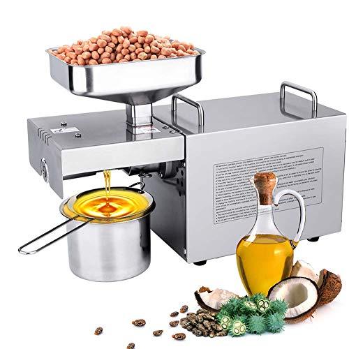 IDABAY 700W Oil Press Machine, Estrattore D\'olio Automatico per Uso Domestico, Adatto a produrre, Olio di Girasole, Olio Arachidi, Olio di Oliva, Olio di Cocco, Olio di Sesamo, Olio di Noce 220V