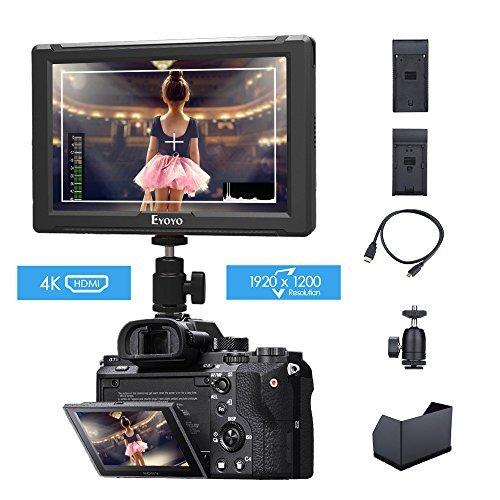 Monitor da Campo 7 pollici Eyoyo E7S Full HD 1920 * 1200 Ultra Sottile Supporta 4K/ HDMI per Sony Canon Nikon Fotocamera DSLR e Videocamera con
