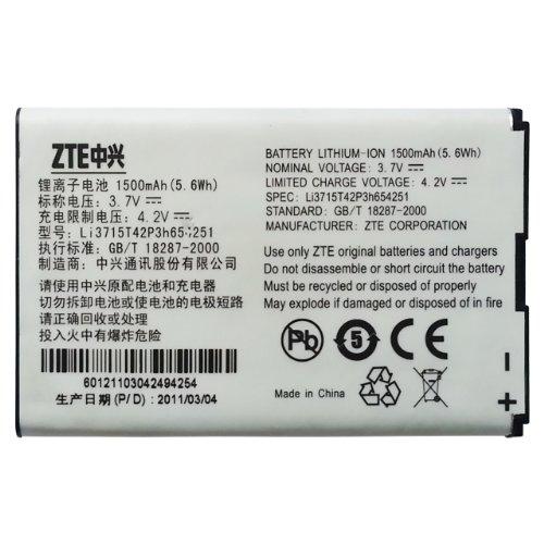 Original ZTE Li3715T42P3h654251 Batterie (für ZTE U722, U235, U230, U700, U720, U235B, U600, U900, U215, R750, U232, X920, X925, MF30, AC30, A6, MF30, A6, WiFi, Router, F165, F165i, T165i, U728, U862, D800, D810, VF945)