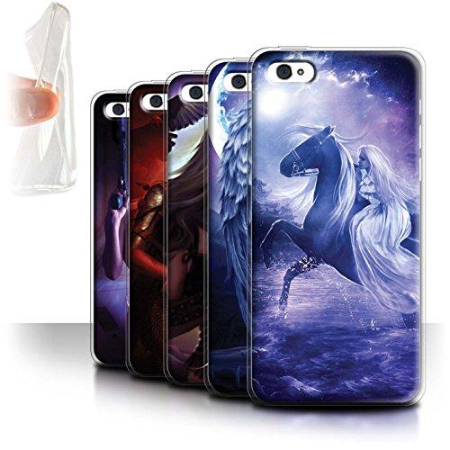 Officiel Elena Dudina Coque / Etui Gel TPU pour Apple iPhone 5C / Feu et d'Acier Design / Super Héroïne Collection Pack 9pcs