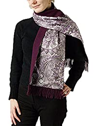 Écharpe en soie et double 100 %  laine/soie 100 %  laine vierge et 30 x 150 cm
