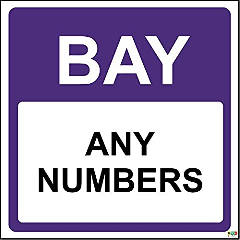 Shop warehouse signs Bay aisle sign - Self adhesive sticker 300mm x 300mm