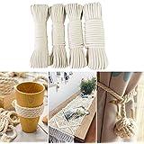 8 mm 50m Baumwolle Kordel Seil Baumwollseil geflochten Bastelseil Handgemachtes Baumwollstrick in verschiedenen Größen