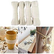 Cordón de algodón de macramé, tejido a mano, para hacer cuerda trenzada y manualidades
