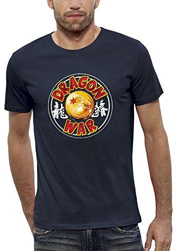 PIXEL EVOLUTION Camiseta 3D Dragon War en Realidad Aumentada Hombre - tamaño XXL - Azul Marino