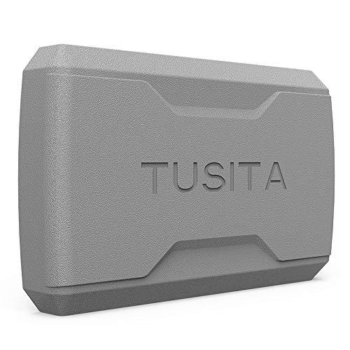 TUSITA Hülle für Garmin Striker 5cv,Striker Plus 5cv,Striker 5dv - Silikon Schutzhülle Skin - Handheld GPS Navigator Zubehör (Gps-handheld Benutzt)