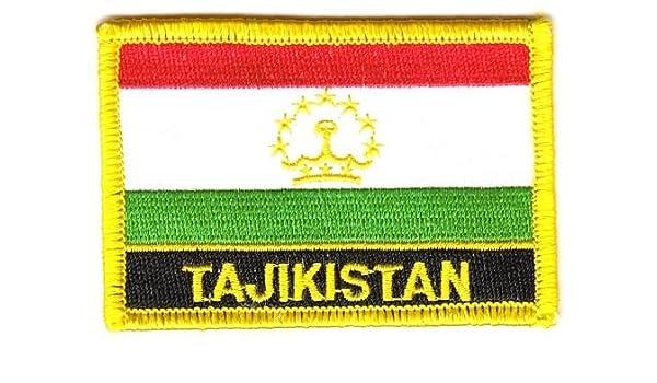 Aufnäher Tadschikistan Schrift Patch Flagge Fahne