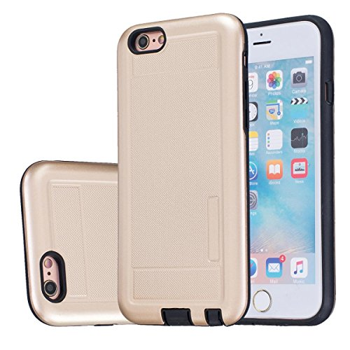 MOONCASE IPhone 5 / 5S / iPhone SE Étui, Double Couche Hybride Soft TPU Intérieur + Anti-Dérapant Coque PC Robuste Anti-Scratch Antichoc Housse Etui de Protection Case pour iPhone 5G / 5S / SE Violet Doré