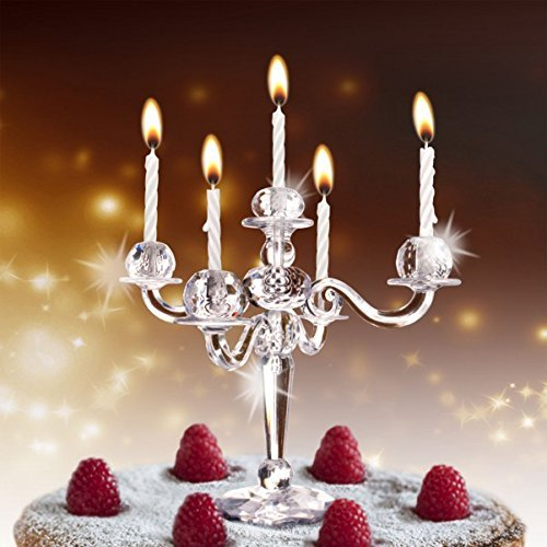 Mini Kerzenleuchter für Kuchen und Torte inkl. 9 Kerzen
