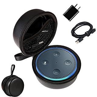 Hülle für Echo Dot,LANMU Schutzhülle Case Cover Beutel Box Kasten Tragetasche Zubehör für Amazon Echo Dot 1st und 2nd Generation mit Handschlaufe