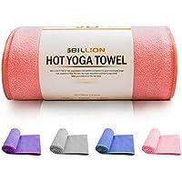 5BILLION Microfibra Toalla de Yoga - 183cm x 61cm - Hot Toalla de Yoga, Bikram Toalla de Yoga, Ashtanga Toalla de Yoga - Antideslizante, Absorbente - con Bolsa de Transporte Gratuita (Rosado)