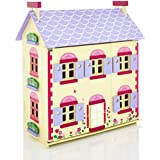 Molly Dolly Wooden Cottage Dolls' House & 22 Piece Furniture Set