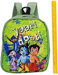Chhota Bheem Plush School Bag for Kids - Chhota Bheem Yari Dosti 13inch Bag - Green Stylish Soft Bag - with 1 Compartments - Back to School Bags for Children