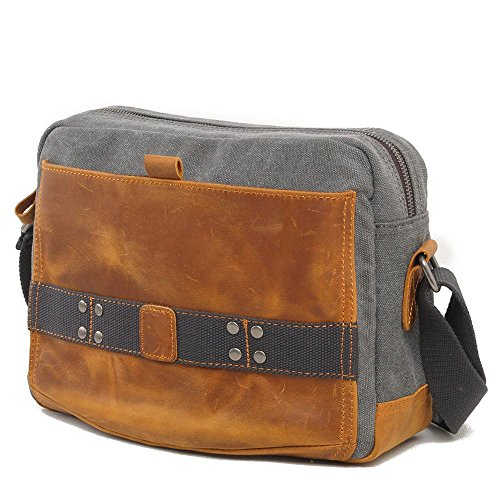 Europa e negli Stati Uniti gli uomini e donne retro tempo libero pacchetto diagonale borsa pacchetto, light gray light gray