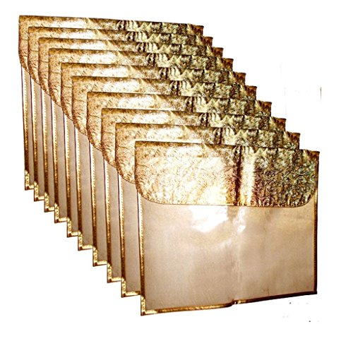 Ridhi & Sidhi Golden Saree/Suit Flip Covers Pack of 10. (Wedding Collection...