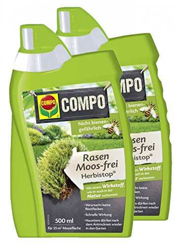 COMPO Rasen Moos-frei Herbistop, Bekämpfung Moosen und Algen, Konzentrat, 1000 ml